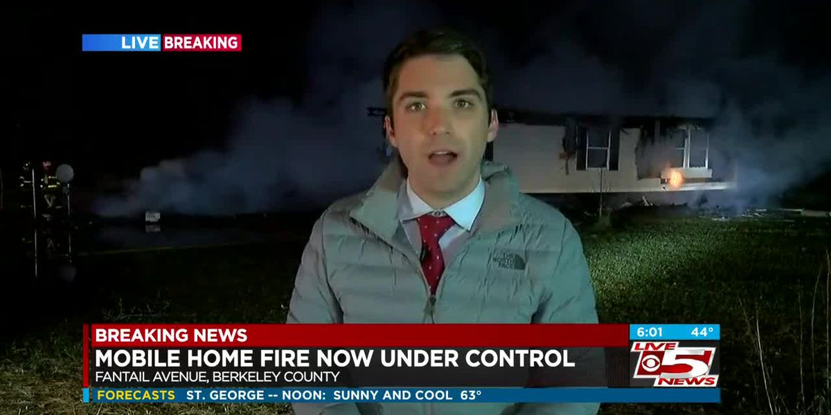 VIDEO: Fire destroys mobile home in Berkeley County