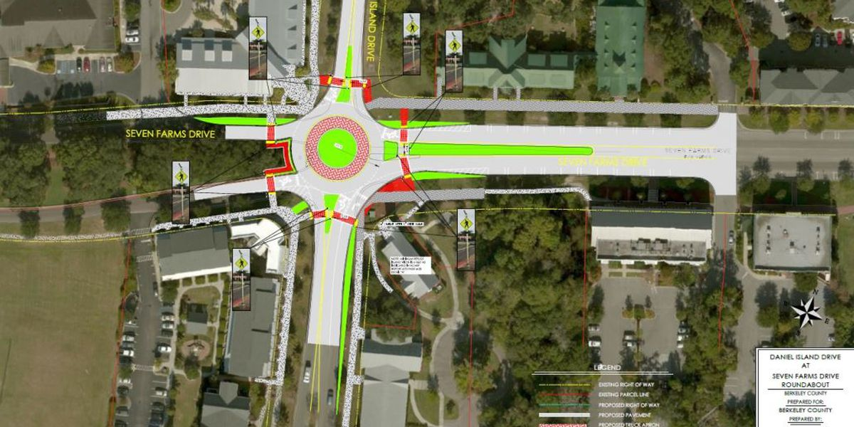 Daniel Island roundabout construction begins Monday