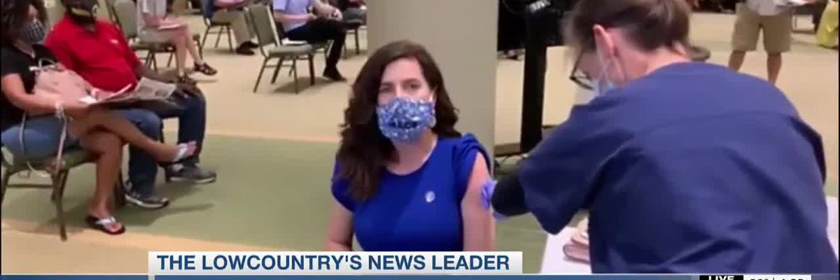 VIDEO: Rep. Nancy Mace among vaccine recipients at Fetter Health clinic