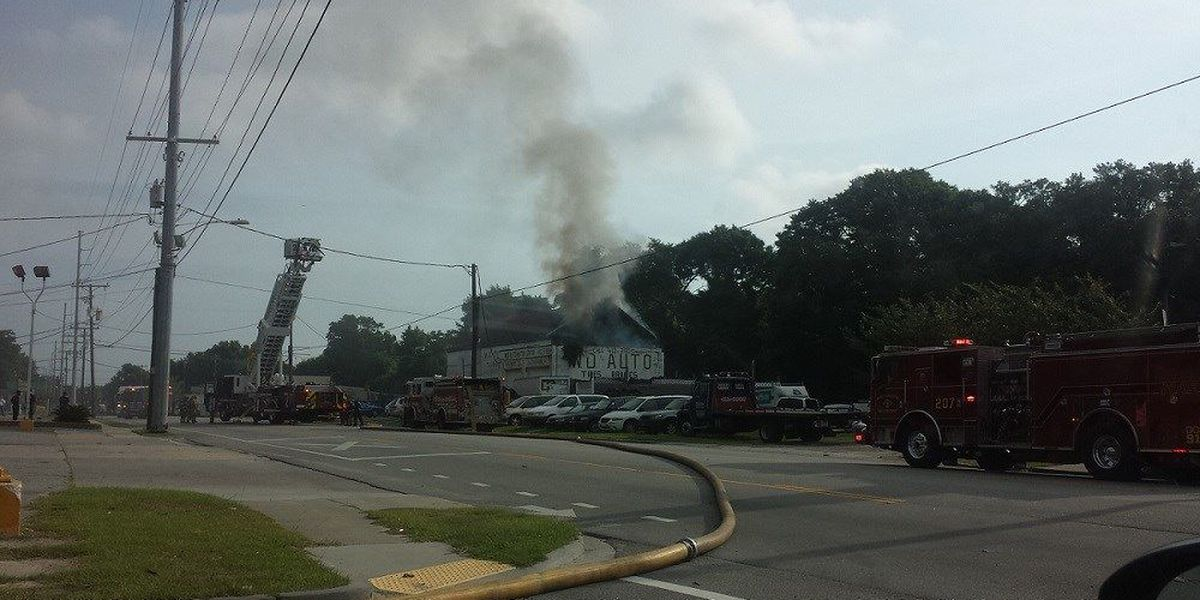 Crews extinguish commercial structure fire on Spruill Avenue