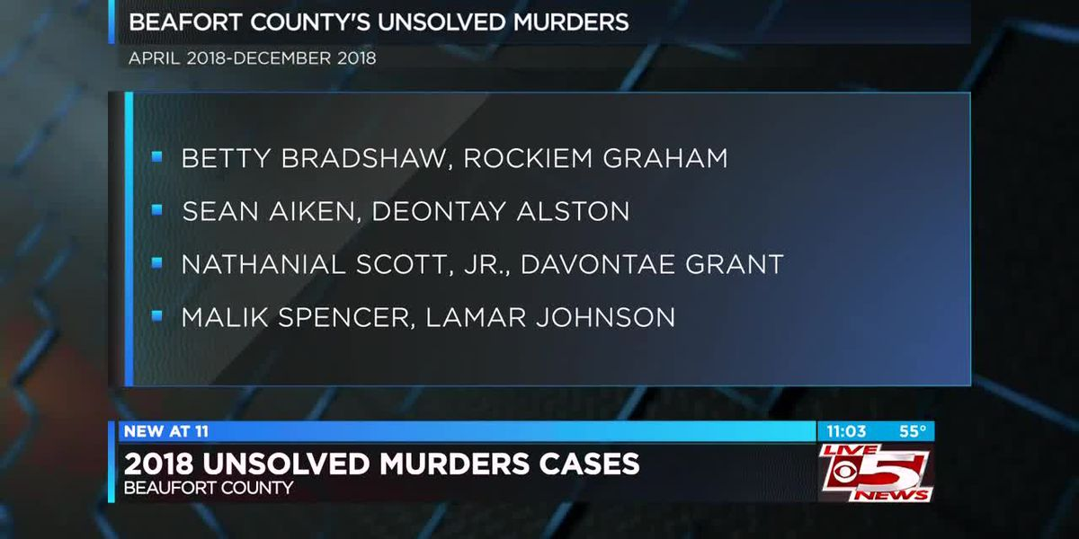 VIDEO: Beaufort Co. investigators search for tips in unsolved murder cases