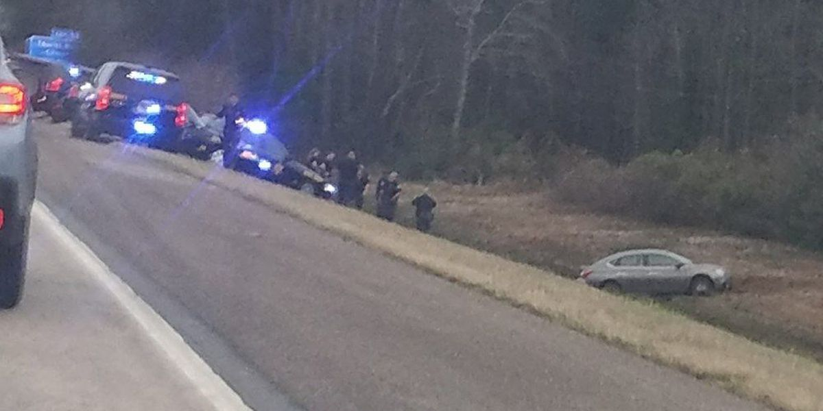 Walterboro highway chase ends after car gets stuck in mud