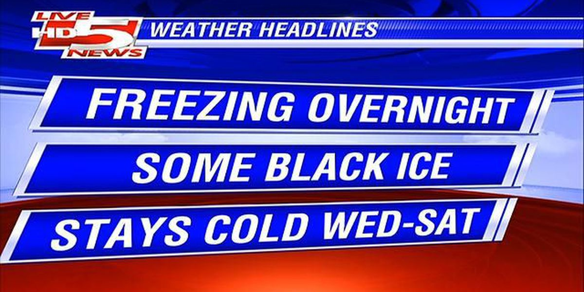 Patches of black ice possible in the Lowcountry Wednesday morning