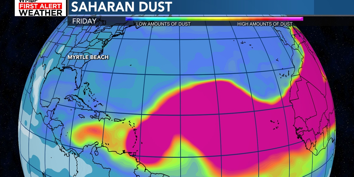 TROPICS: Saharan dust expected to move into our area next week