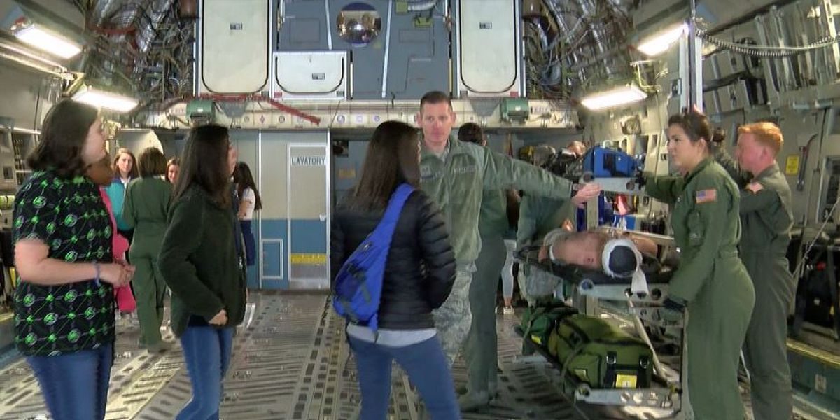 Lowcountry girls learn about aviation careers at Joint Base Charleston