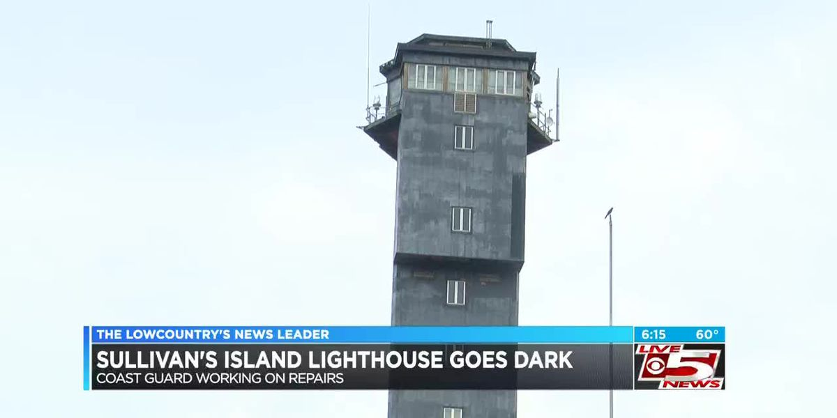 Repairs underway at Sullivan's Island lighthouse to get light back on