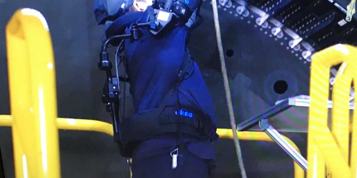 Exoskeleton technology is getting a trial run at Boeing to make workers' jobs less strenuous