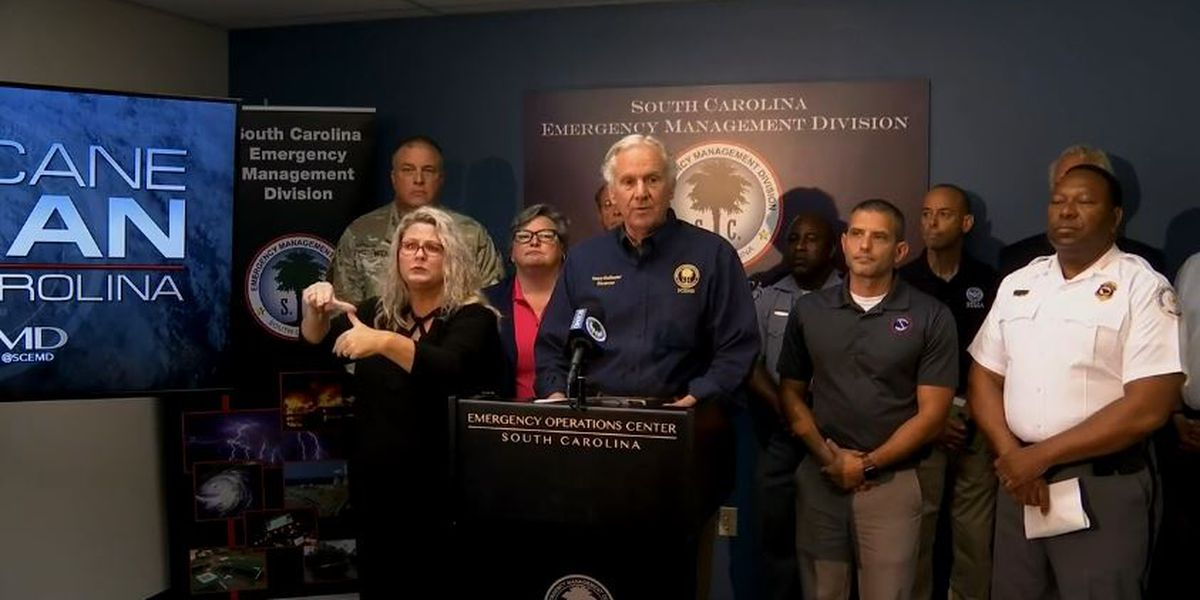McMaster on Hurricane Dorian's SC impact: 'Be prepared. We know it's coming'