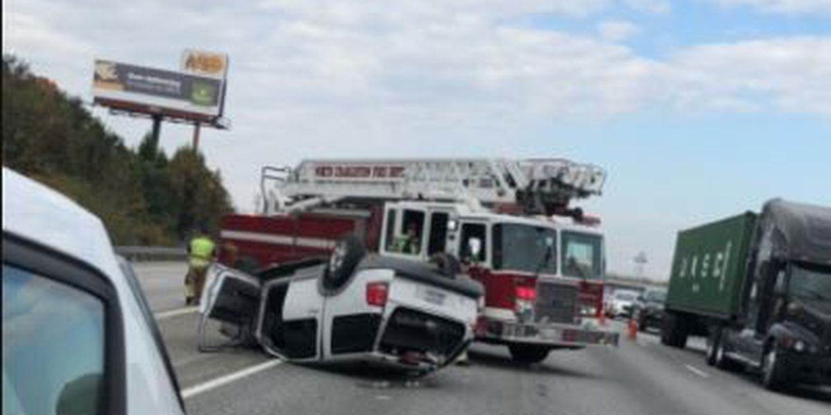 Crews clear I-26 accident that sent one to the hospital