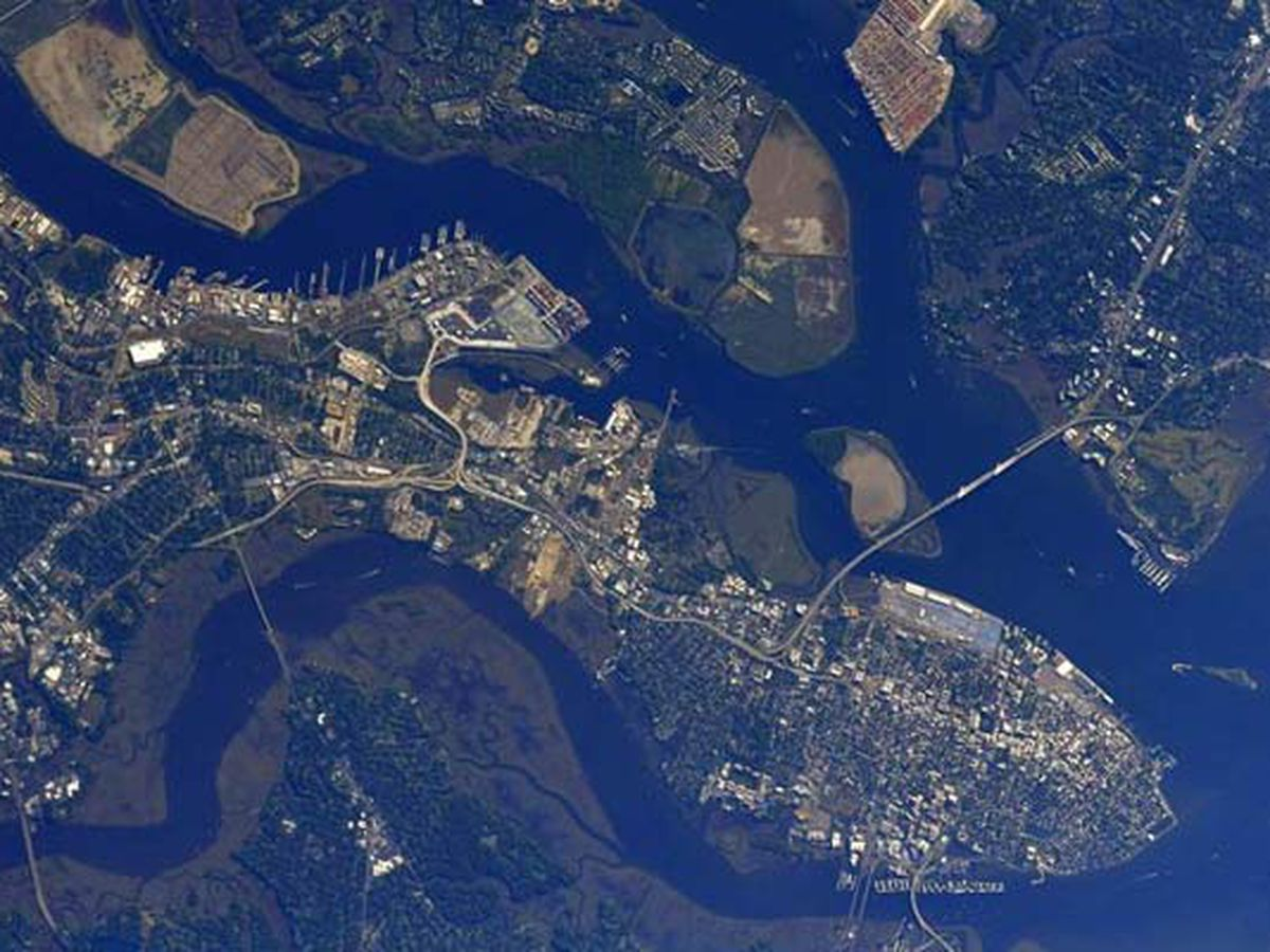 NASA astronaut tweets photos of Charleston area from International Space Station