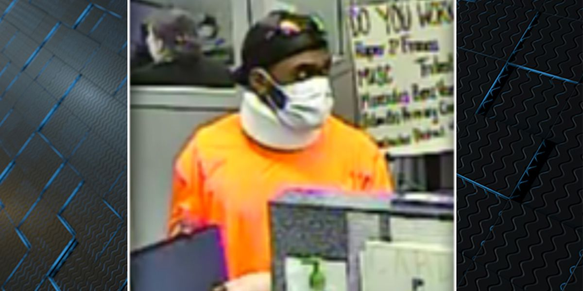 Police release pictures of man wanted for Summerville bank robbery