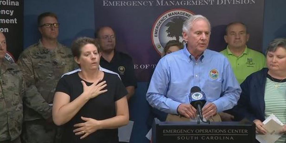 Governor holds afternoon press briefing on Florence conditions