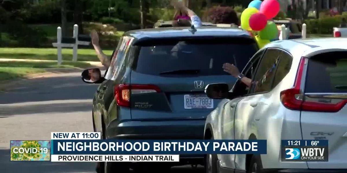 Indian Trail community gives 82-year-old neighbor a 'happy birthday parade'