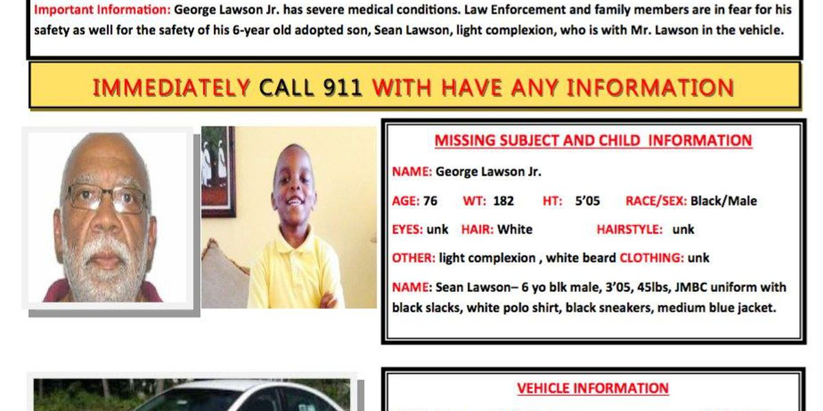 SLED searching for endangered person and son from Sumter