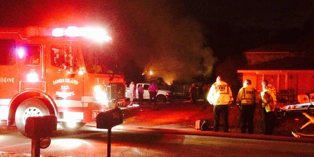 Officials: 1 hospitalized in James Island structure fire