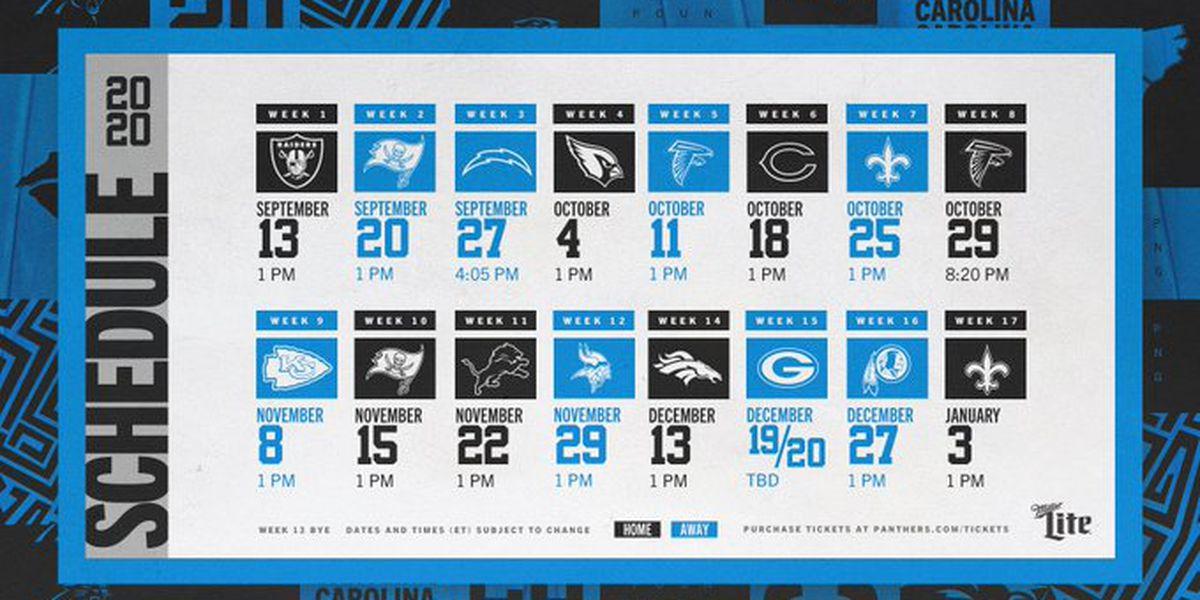 Carolina Panthers Announce 2020 Season Schedule