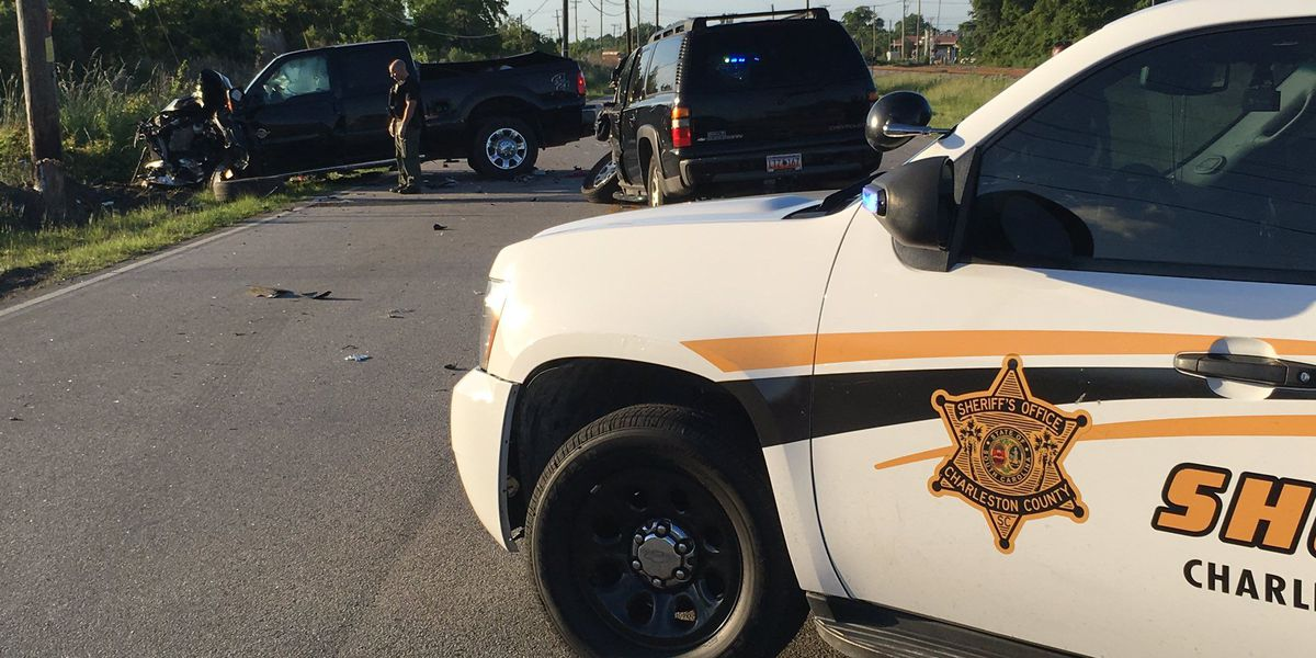 3 arrested after Charleston chase ends with stolen truck crashing into pole