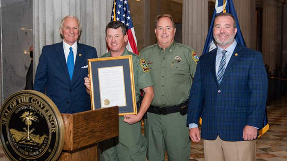 State Senate, governor honor Charleston Co. DNR officer for response to fiery crash