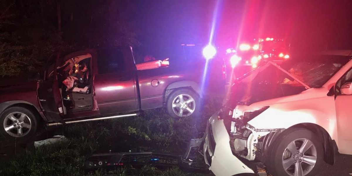 Authorities: 3 taken to hospital following crash in Awendaw area