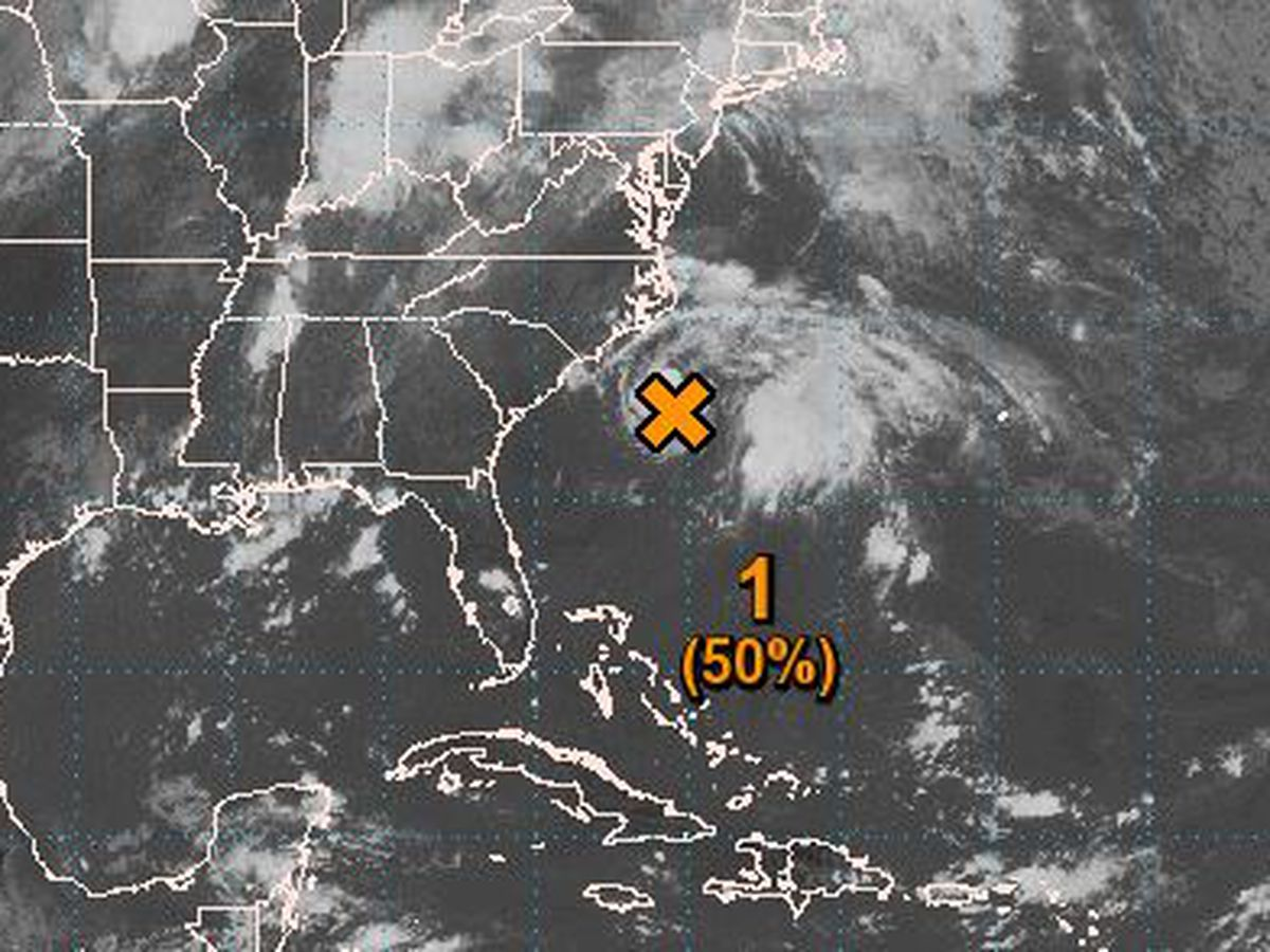FIRST ALERT: Low-pressure system could develop into depression off Carolina coast