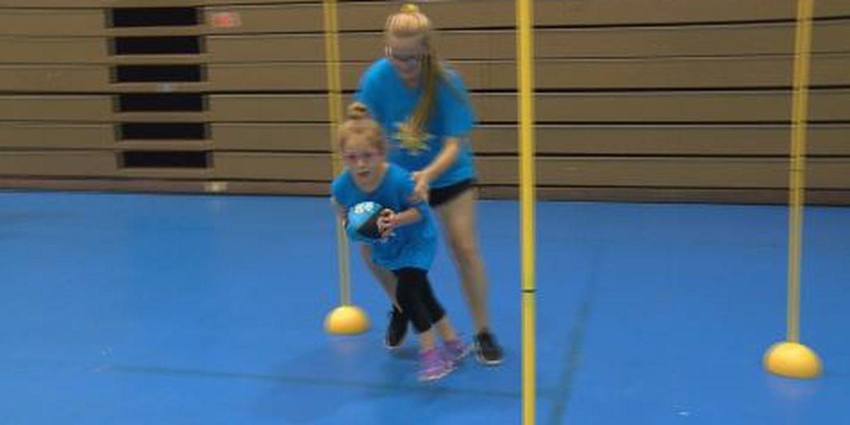 Dozens of kids with disabilities participate in Carolina Panthers camp