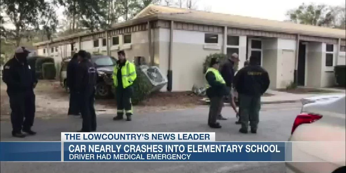 VIDEO: Driver has medical emergency, barely avoids crashing into Knightsville Elementary School