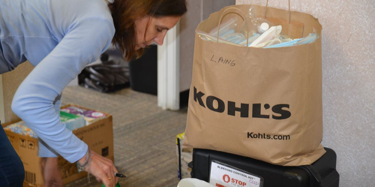 Charleston County school nurses collecting medical supplies for area health care workers