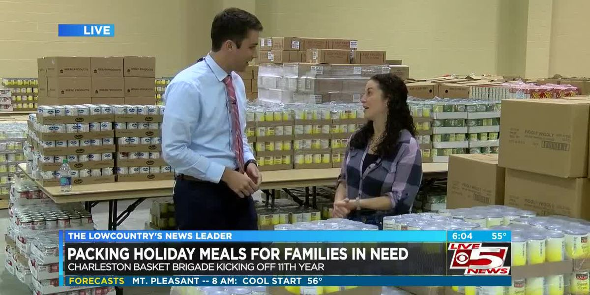 VIDEO: Volunteers packing baskets for those in need Tuesday