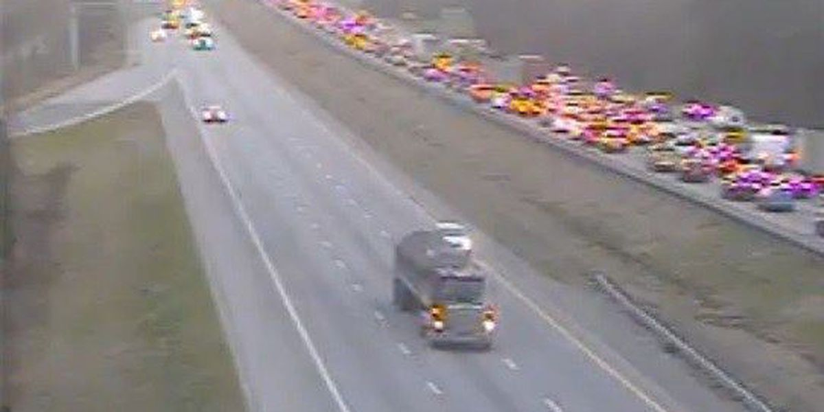 Traffic moving on I-26 EB after earlier delays