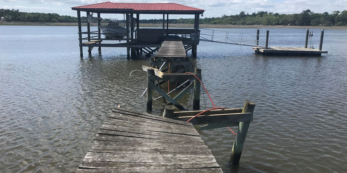 Johns Island community concerned for safety after boat rips through dock