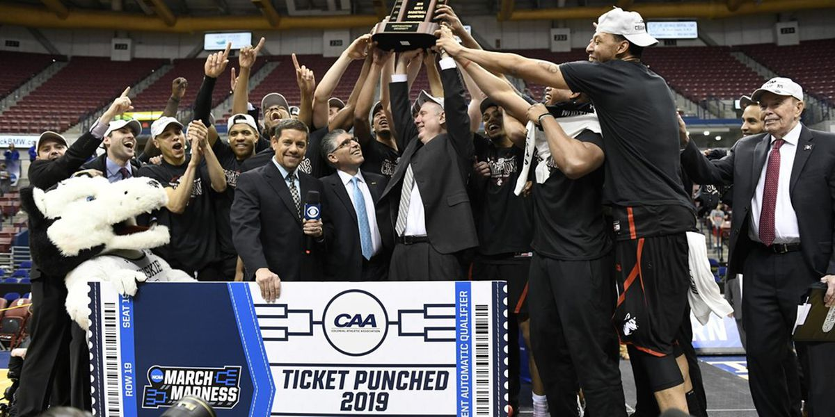 Northeastern Defeats Hofstra, 82-74, To Capture CAA Championship at North Charleston Coliseum