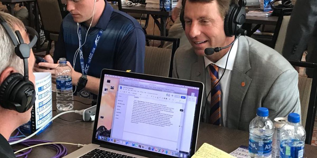 Swinney discusses QB controversy at ACC Media Day