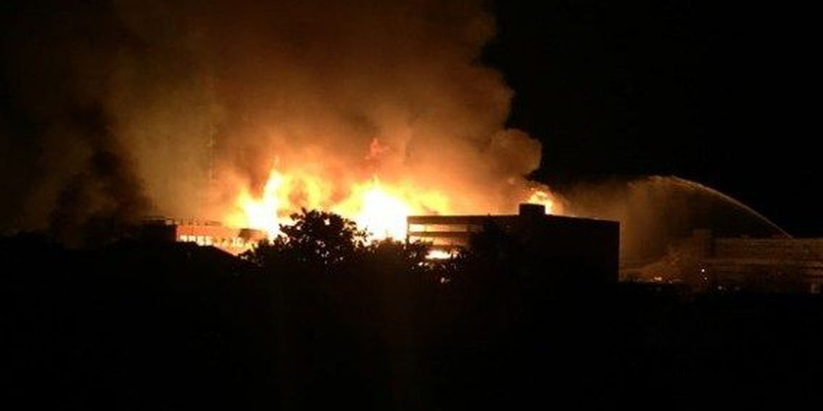 Firefighters battling large fire in downtown Raleigh