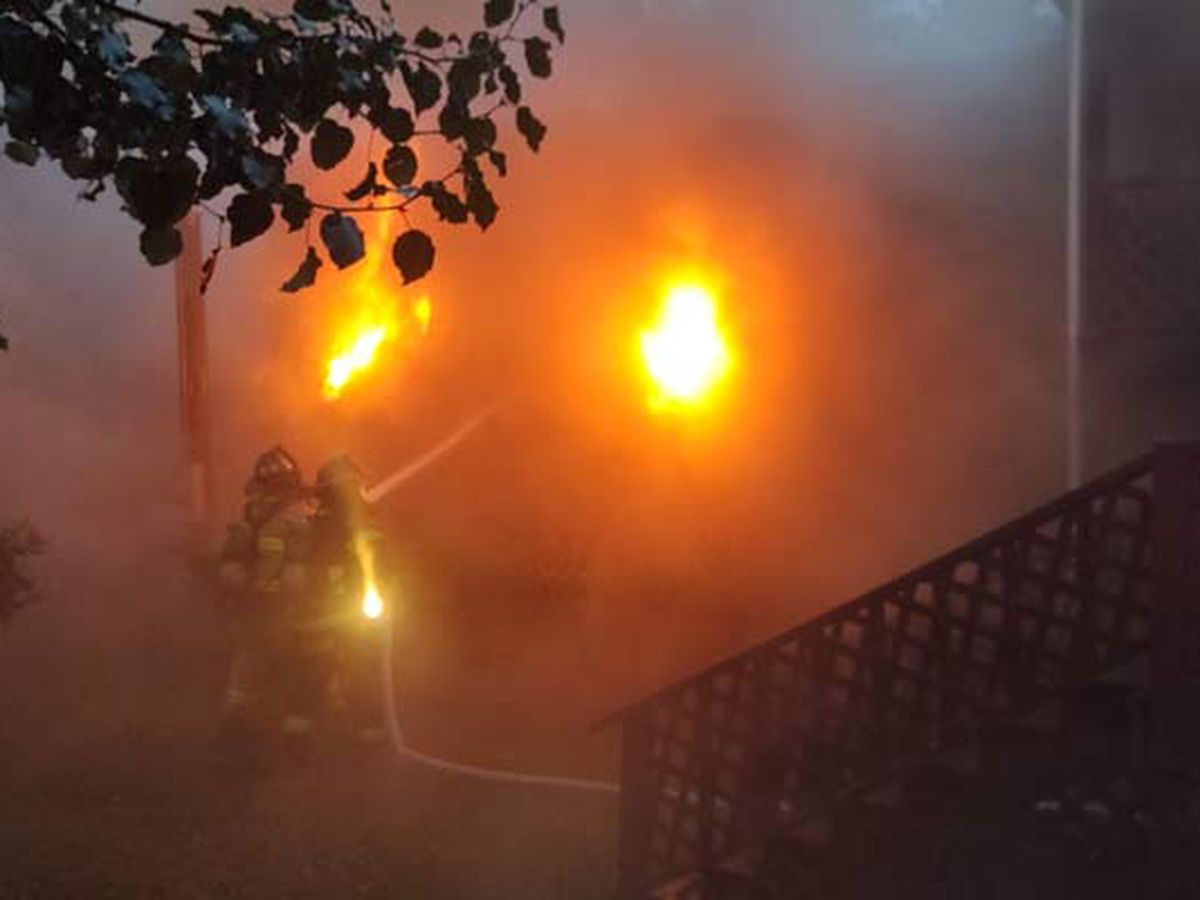 Crews contain fire at McClellanville home