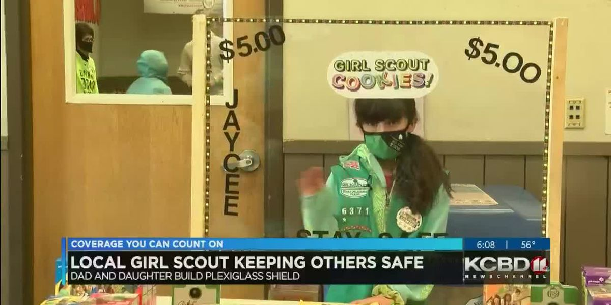 Lubbock Girl Scout keeping customers safe