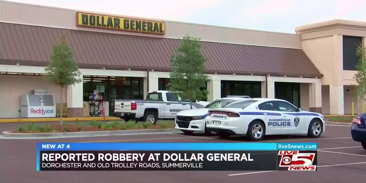 VIDEO: Police respond to reported robbery at Summerville Dollar General