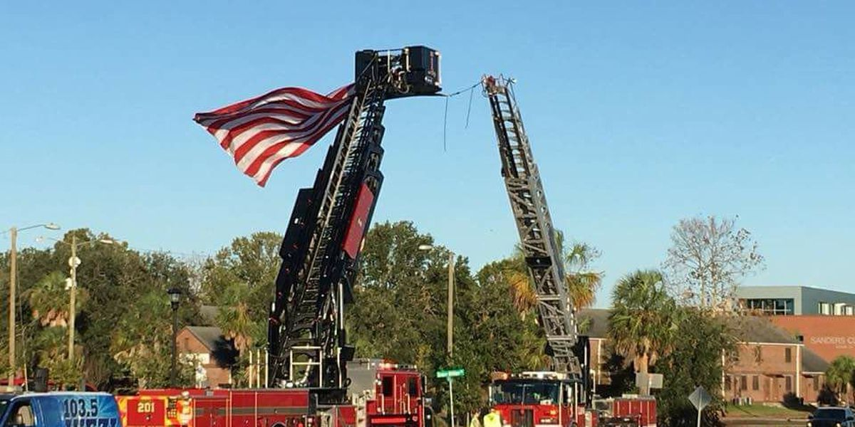 Firefighter experiences 'medical emergency' during Charleston 9/11 Silent Walk, transported to area hospital