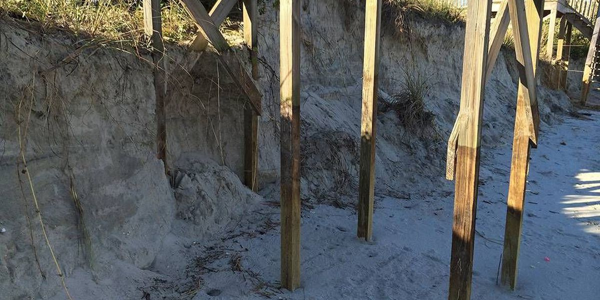 Flood-related erosion closes seven Georgetown County beach accesses