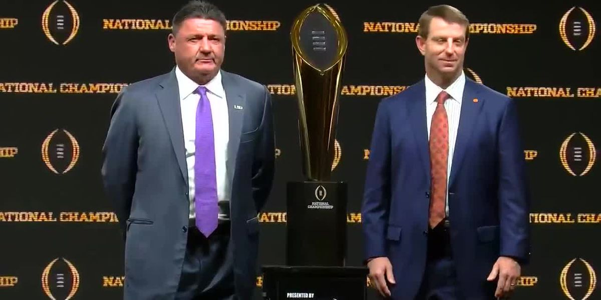 LSU, Clemson's head coaches speak one day before National Championship