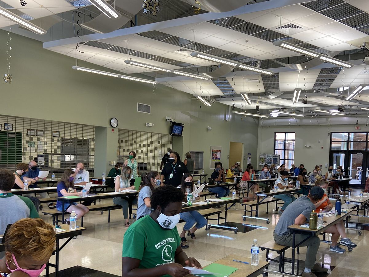 Charleston County teachers return to school for in-person training