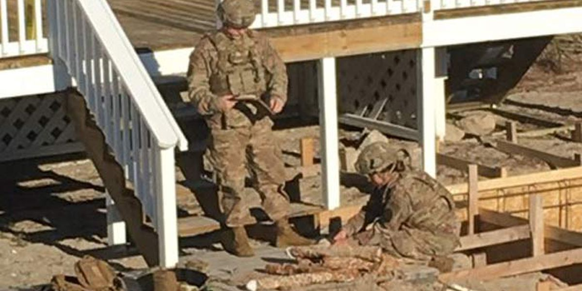 Unearthed military ordnance safely removed from back yard