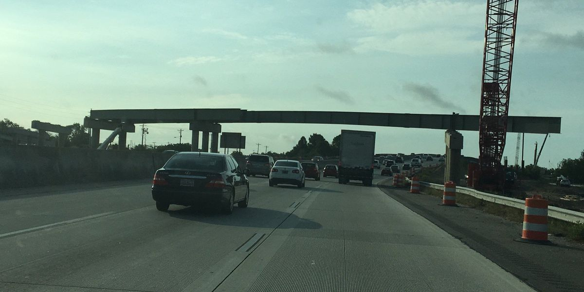 Lane closures on I-26 expected, girders being placed for Meeting Street exit