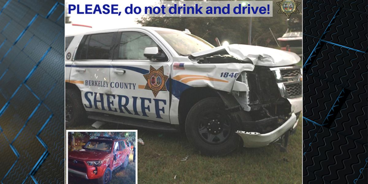 Sheriff's office: Drunk driver crashes into Berkeley Co. deputy's vehicle