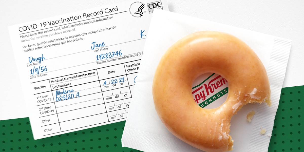 Krispy Kreme offers daily free doughnut with proof of vaccination