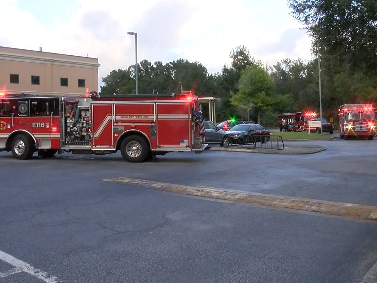 Charleston Fire respond to possible hazmat situation at hospital