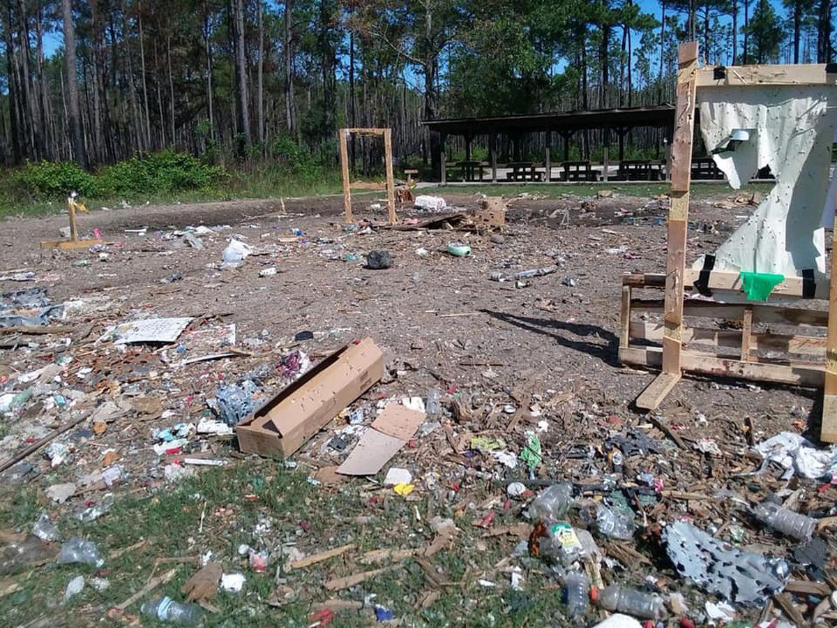 Rifle range closed because of vandalism, excessive trash
