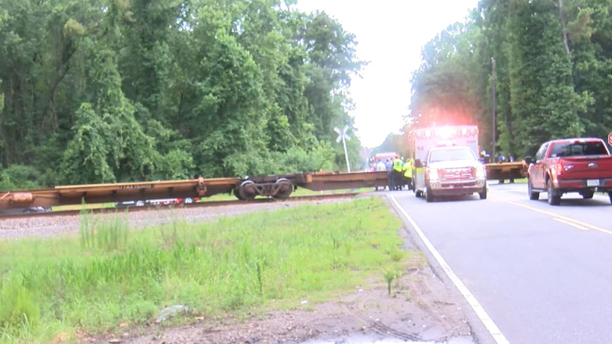 Driver treated for minor injuries after train hits car in Ravenel