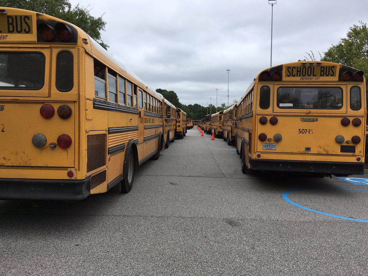 Buses From Greenville Ready To Transport Evacuees From