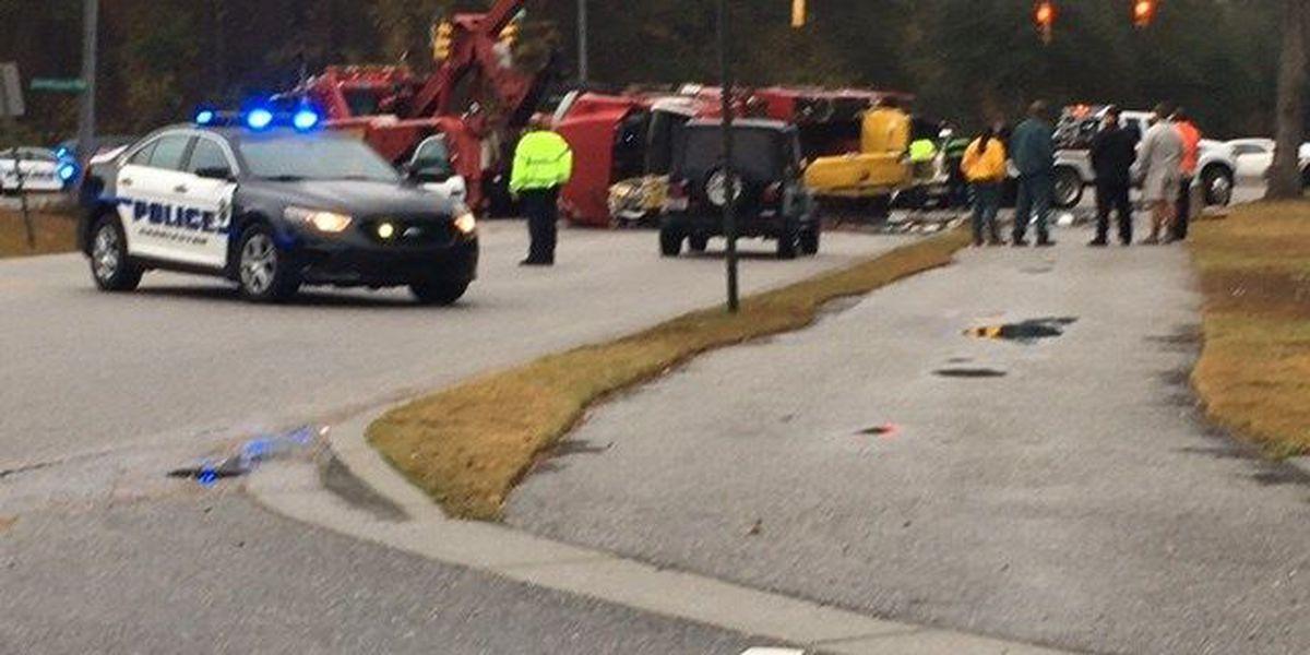 Two taken to hospital after West Ashley crash
