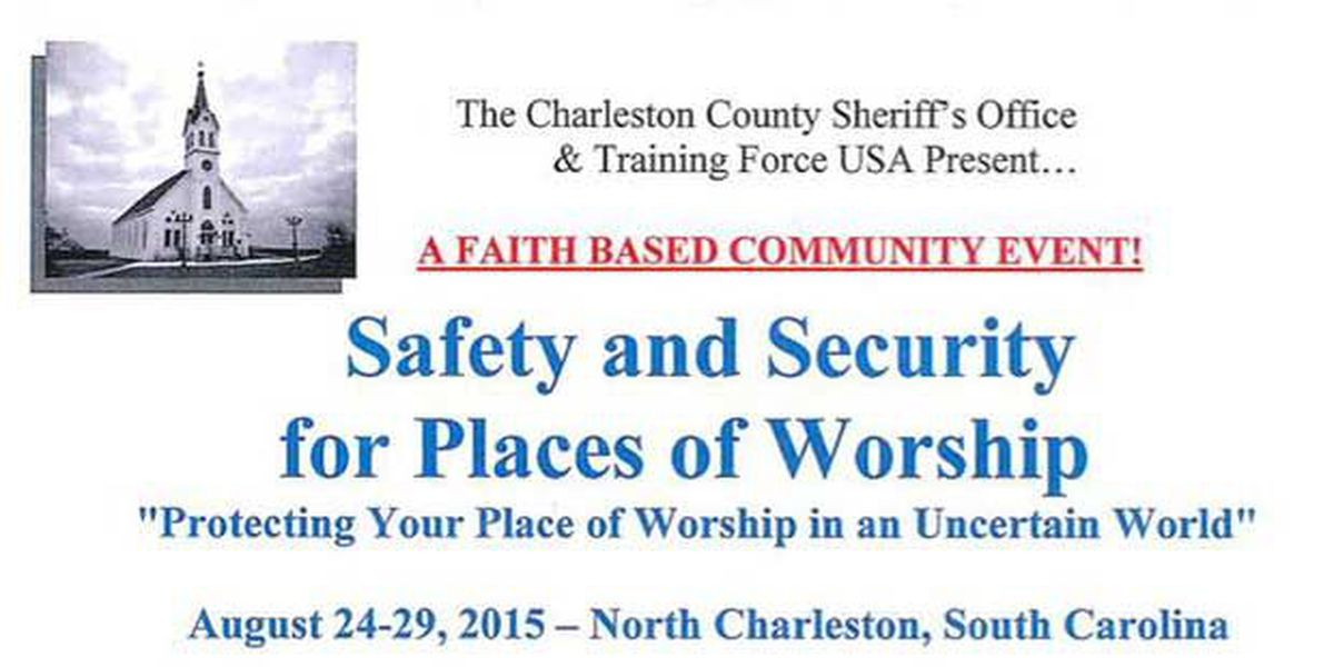 Charleston Co. Sheriff's Office hosting safety training sessions for places of worship